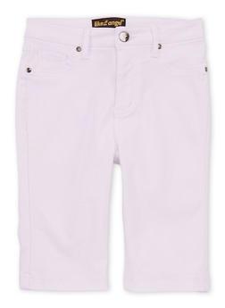 Girls 7-16 Denim Bermuda Shorts - 1621056570014