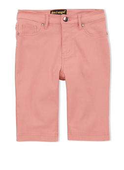 Girls 7-16 Denim Bermuda Shorts - ROSE - 1621056570014
