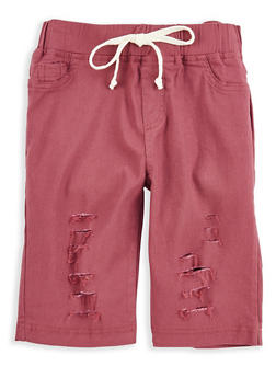 Girls 7-16 Stretch Bermuda Shorts - 1621056570033
