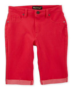 Girls 7-16 Denim Knit Bermuda Shorts - 1621056570421
