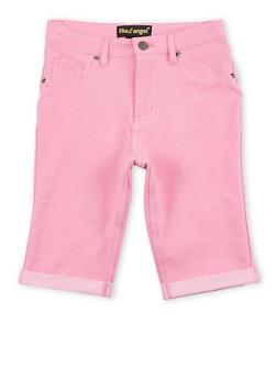 Girls 7-16 Denim Knit Bermuda Shorts - 1621056570423