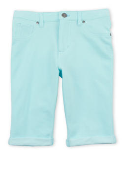 Girls 7-16 Denim Knit Bermuda Shorts - 1621056570426