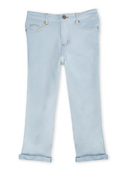 Girls 7-16 Knit Denim Cropped Jeans - 1621056570430