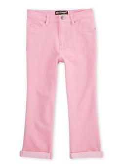 Girls 7-16 Cuffed Denim Knit Capri Pants - 1621056570431