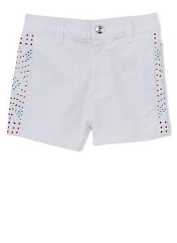 Girls 7-16 Side Studded Twill Shorts - 1621060990012