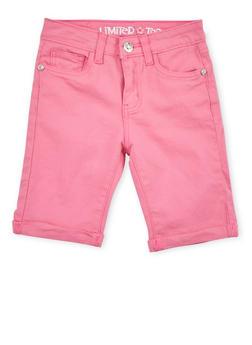 Girls 7-16 Limited Too Neon Pink Bermuda Shorts - 1621060990016