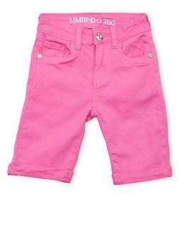 Girls 7-16 Limited Too Magenta Bermuda Shorts - 1621060990029