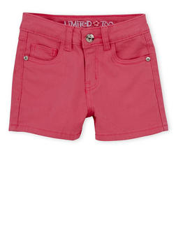 Girls 7-16 Limited Too Pink Denim Shorts - 1621060990032