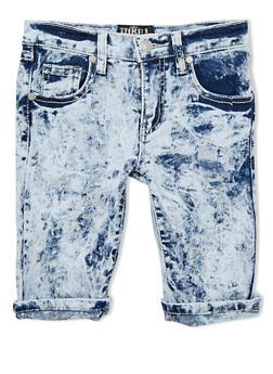 Girls 7-16 Light Cloud Wash Distressed Denim Shorts - 1621063400002