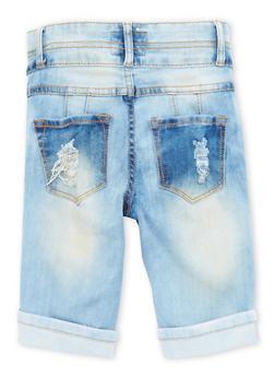 Girls 7-16 Distressed Denim Bermuda Shorts - 1621063400019