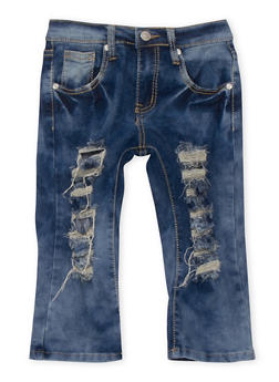 Girls 7-16 Cloud Wash Distressed Jeans - 1621063400030