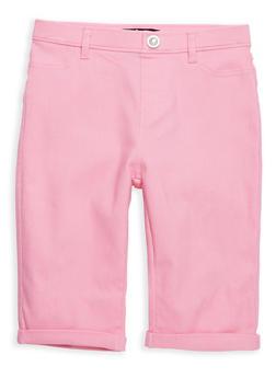 Girls 7-16 Rhinestone Studded Hyperstretch Bermuda Shorts - 1621063400091