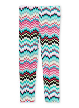 Girls 4-6x Chevron Print Leggings - 1622023130001