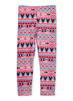 Girls 4-6x Aztec Print Leggings - 1622023130002
