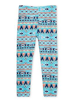 Girls 4-6x Aztec Print Leggings - 1622023130002