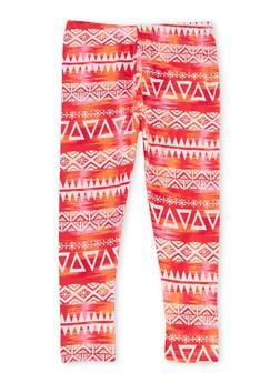 Girls 4-6x Aztec Print Leggings - 1622061950007