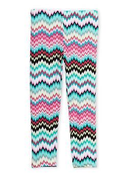Girls 7-16 Chevron Print Leggings - 1623023130001