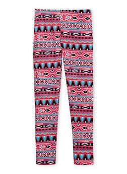 Girls 7-16 Tribal Print Leggings - 1623023130002