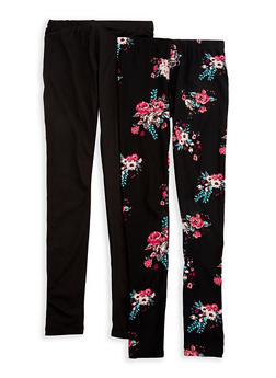Girls 7-16 Set of 2 Leggings - 1623060580005