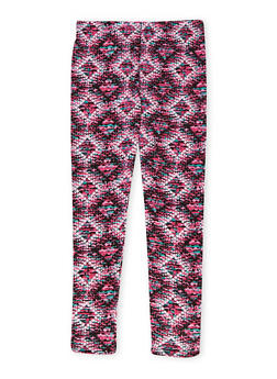 Girls 7-16 Leggings with Multicolored Print - 1623061950018