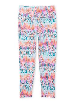 Girls 7-16 Aztec Print Leggings - 1623061950020