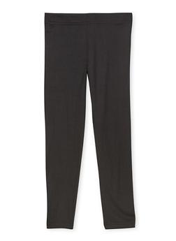 Girls 7-16 Black Soft Knit Leggings - 1623073990003