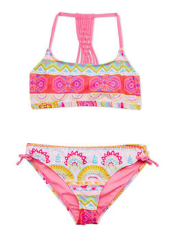 Girls 7-16 Two Piece Printed Bathing Suit Set - 1624055520004