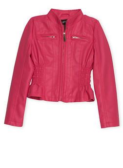 Girls 4-6x Faux Leather Moto Jacket - 1626051060071