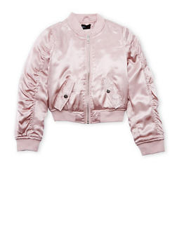 Pink bomber jacket for toddlers
