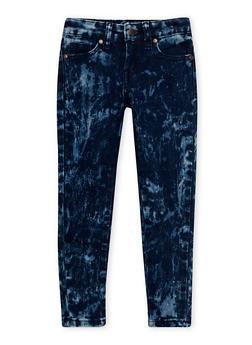 Girls 4-6x Marble Wash Skinny Jeans - 1628056720004