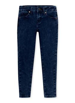Girls 4-6x Marble Wash Skinny Jeans - 1628056720005