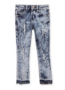 Girls 4-6x Distressed Acid Wash Jeans - 1628056720018