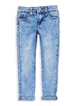 Girls 4-6x Cuffed Acid Wash Skinny Jeans - 1628056720019