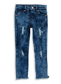 Girls 4-6x Frayed Hem Jeans - 1628056720020