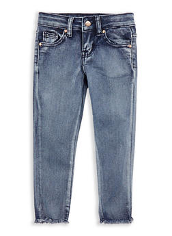 Girls 4-6x Frayed Hem Jeans - 1628056720026