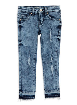 Girls 4-6x Distressed Skinny Jeans - 1628056720029