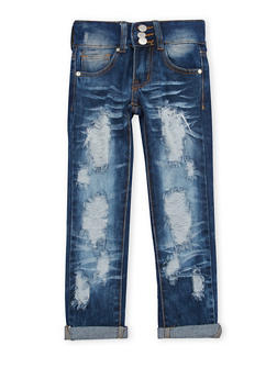 Girls 4-6x Distressed Skinny Jeans - 1628063400006