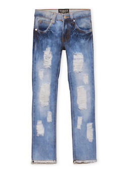 Girls 4-6x Skinny Jeans with Distressing - 1628063400014