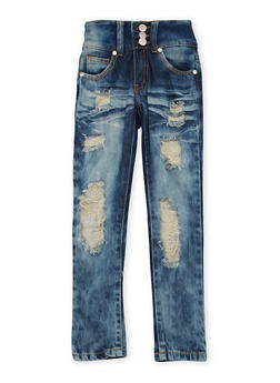 Girls 4-6x Distressed Skinny Jeans - 1628063400016