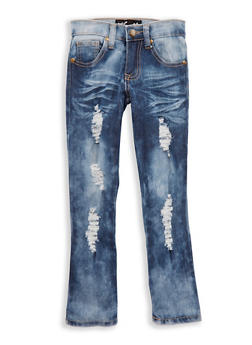 Girls 4-6x Distressed Acid Wash Jeans - 1628063400041