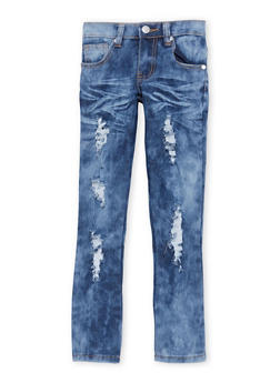 Girls 4-6x Destroyed Cloud Wash Skinny Jeans - 1628063400043