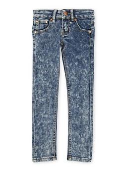 Girls 4-6x Skinny Jeans in Acid Wash - 1628073420001