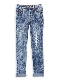 Girls 7-16 Acid Wash Skinny Jeans - 1629056720003