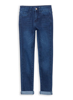 Girls 7-16 Cuffed Jeans - 1629056720004