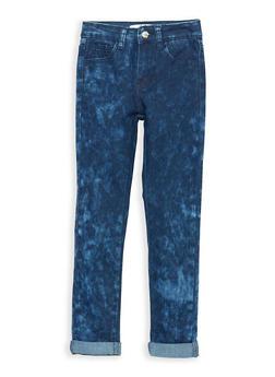 Girls 7-16 Dark Acid Wash Jeans - 1629056720008