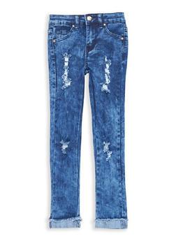 Girls 7-16 Frayed Skinny Jeans - 1629056720014