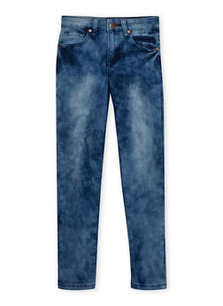 Girls 7-16 Cloud Wash Skinny Jeans - 1629056720386