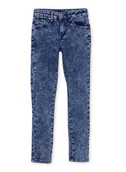 Girls 7-16 Acid Wash Skinny Jeans - 1629056720392