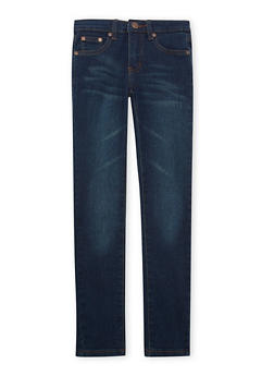 Girls 7-16 Skinny Jeans in Dark Wash - 1629056720393