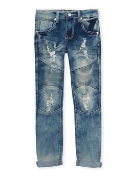 Girls 7-16 Skinny Moto Jeans - 1629063400051
